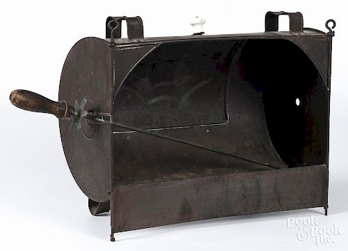 Tin reflector oven, 19th c., 15'' h., 24'' w.