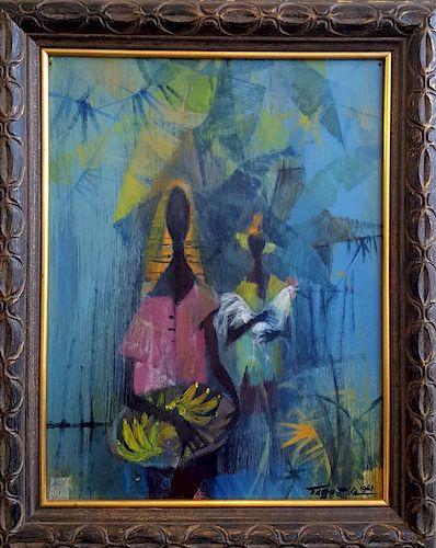 Romeo Tabuena (1921-2015) oil painting