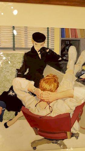 James Dwyer pulp fiction illustration