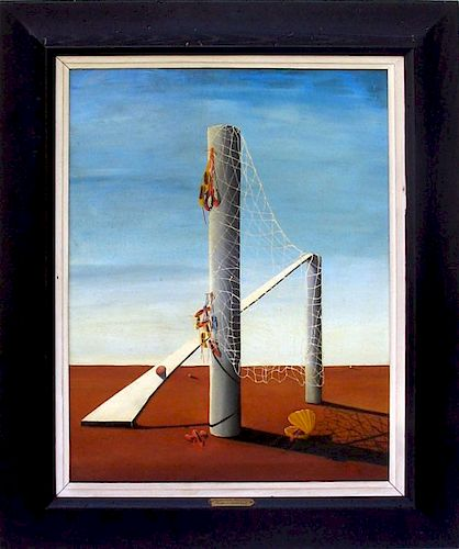 Jorge Noceda Sanchez Latin Surrealist Painting