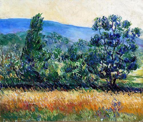 Franz (François) Gaillard (Belgian, 1861-1932) Impressionist Painting
