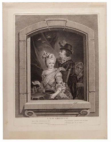 L'Escamoteuse. After Francois Eisen (Belgian, 1695 Ð 1778), engraved by Angelique Martinet (French, ca. 1731 Ð 1780). Paris: Buldet, mid-eighteenth