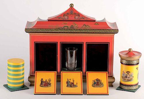 Virgil (Virgil Harris Mulkey). The Great Virgil's Okito Checker Cabinet. Louisville: Okito/Redmon, ca. 1952. ÒClub sizeÓ Checker Cabinet for the mag