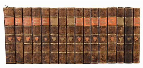 Wiegleb, Johann Christian. Die Naturliche Magie. Berlin, 1789 Ð 1801. Contemporary half calf with marbled sides, spines ruled and lettered in gilt. C