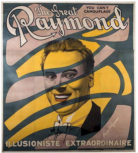 Raymond, Maurice (Morris Raymond Saunders). You Can't Camouflage The Great Raymond. Illusioniste Extraordinaire. London: David Allen & Sons, ca. 1910.