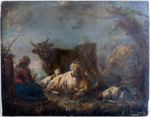 Philipp Peter Roos (1655-1706), attr. oil painting