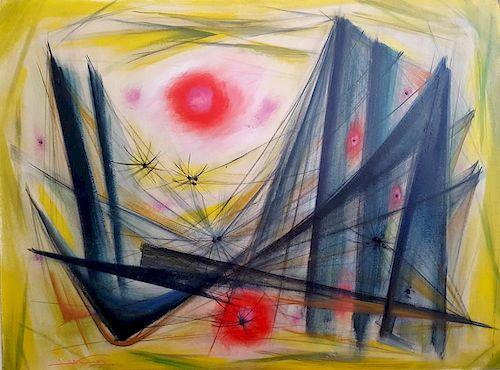 Emil Kosa Jr. California Modernist Abstract
