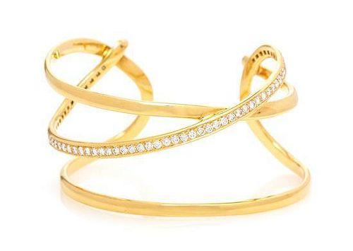 a387a23b4 An 18 Karat Yellow Gold and Diamond