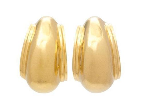 A Pair of 18 Karat Yellow Gold Earclips, Paloma Picasso for Tiffany & Co., 7.50 dwts.
