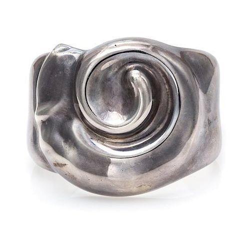 "A Sterling Silver ""Ram's Head"" Cuff, Elsa Peretti for Tiffany & Co., Spain, Circa 1979, 46.20 dwts."