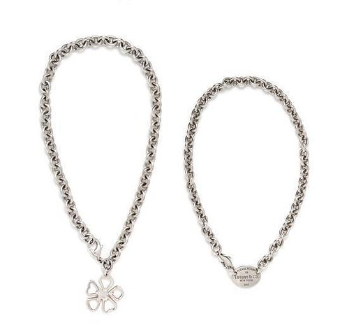 A Collection of Sterling Silver Necklaces, Tiffany & Co., 72.10 dwts.