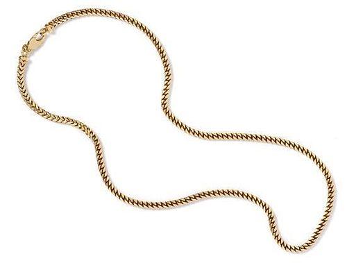 An 18 Karat Yellow Gold Link Chain Necklace, 37.10 dwts.