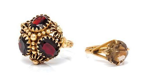 * A Collection of Gold and Gem Rings, 8.20 dwts.