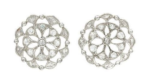 * A Collection of White Gold and Diamond Jewelry, 6.70 dwts.