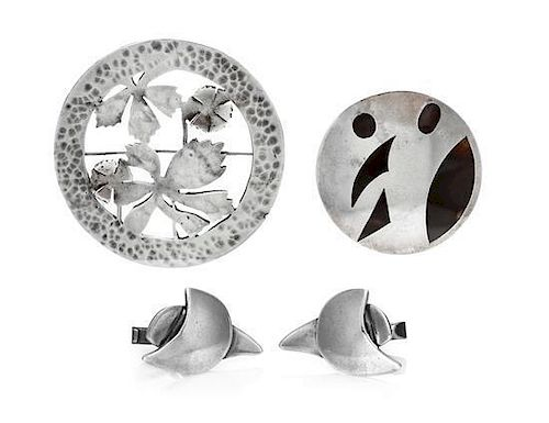 A Collection of Modernist Sterling Silver Jewelry, 29.40 dwts.js