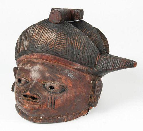 African Yoruba Galede Helmet