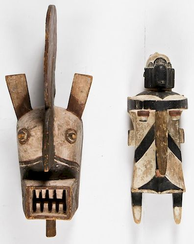 2 African Igbo Masks