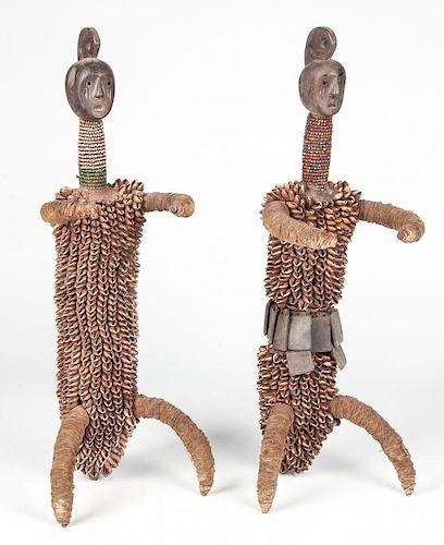 Pair African Namji Dolls
