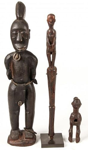 3 African Carved Wood Artifacts