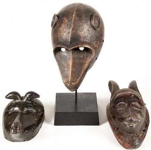 3 Baule Zoomorphic Masks