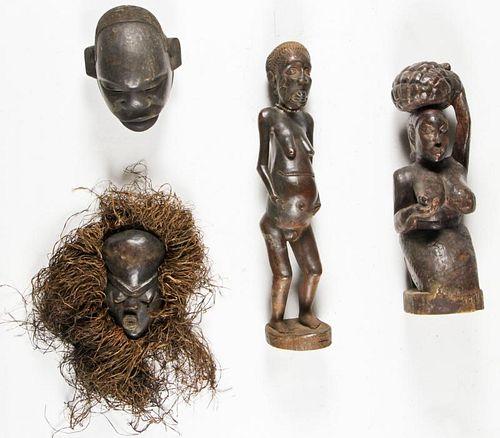 4 African Makonde Artifacts