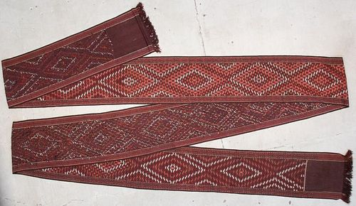 Antique Central Asian Tent Band: 46'8'' x 1'11'' (1422 x 58 cm)