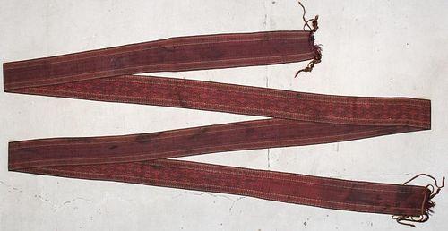 Antique Central Asian Tent Band: 52'6'' x 1'1'' (1600 x 33 cm)