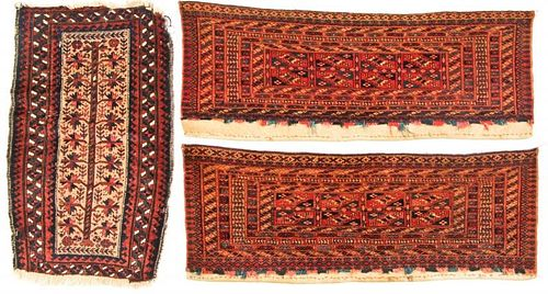3 Antique Beluch and Turkmen Rugs