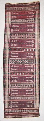 Antique Central Asian Kilim: 3'6'' x 11'6'' (107 x 351 cm)