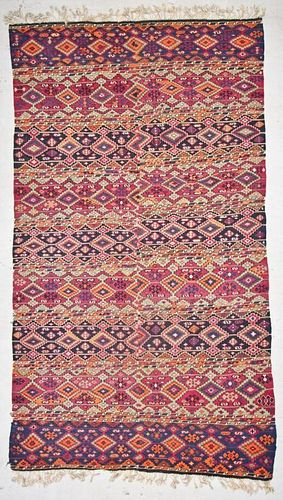 Antique Turkish Kilim: 6'2'' x 10'9'' (188 x 328 cm)