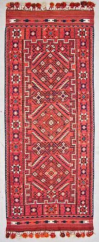 Semi-Antique Central Asian Kilim: 4'9'' x 11'11'' (145 x 363 cm)