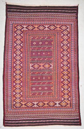 Vintage Central Asian Kilim: 6'3'' x 10'3'' (191 x 312 cm)