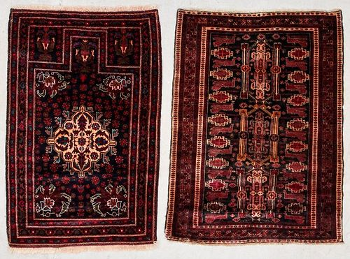 2 Vintage Beluch Rugs, Afghanistan