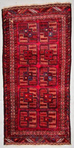 Semi-Antique Central Asian Rug: 4'6'' x 8'9'' (137 x 267 cm)