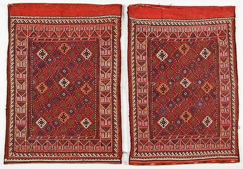 Pair of Semi-Antique Central Asian Sumak Rugs