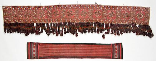 2 Old Central Asian Textile Panels