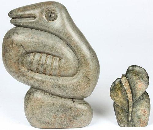 2 African Figural Shona Stones