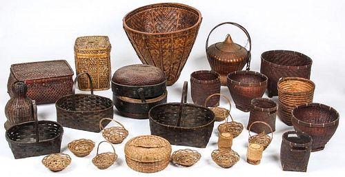Collection of Various Ethnographic Baskets