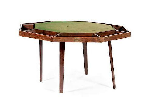 Harry S  Truman, Portable Poker Table Identified to the