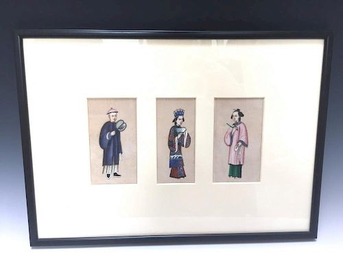 CHINESE ANTIQUE PAINTING ON RICE PAPER