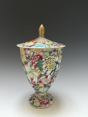 CHINESE ANTIQUE FAMILLE-ROSE CUP, GUANGXU MARKED PERIOD.