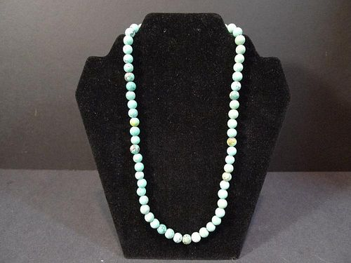 CHINESE TURQUOISE BEADS NECKLACE
