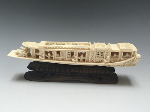 CHINESE FINE BOAT CARVING