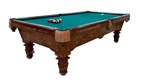 Inlaid Pool Table