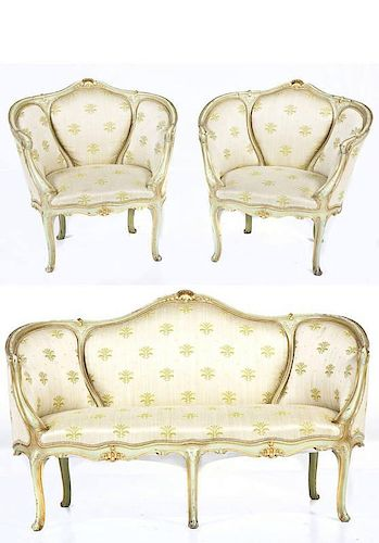 French Louis XV Style Parlor Suite