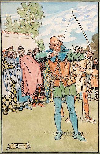 Robin Hood Shoots His Arrow