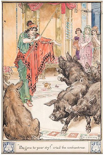 Circe's Palace, Begone to Your Sty Cried the Enchantress