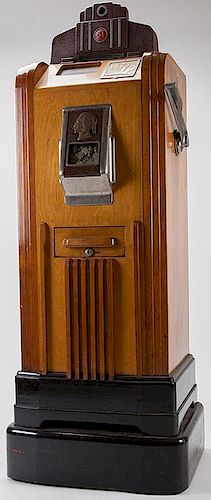 Five Cent O.D. Jenning's ñBronze Chiefî Console Slot Machine