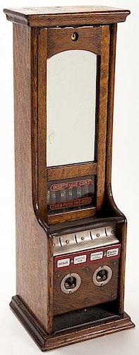 One Cent Four Column Gum and Chocolate ñLî Vending Machine