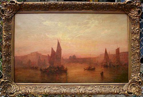 Rubens Santoro (1859-1952) Venice Painting
